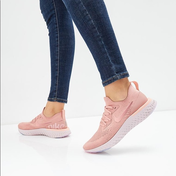 the best attitude b01e6 67742 Nike Shoes | Brand New Epic React Flyknit Rust Pink | Poshmark